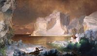 The Icebergs by Frederic Church